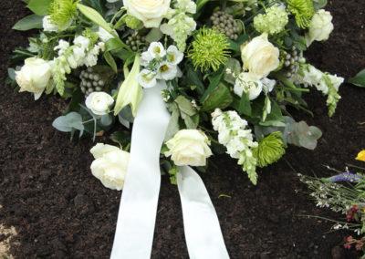 Cuscino tondo di Rose bianche