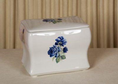 Urna in ceramica con decoro