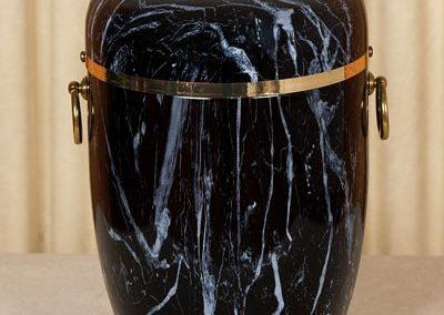 Urna marmorizzata nera