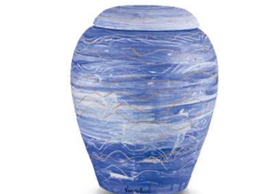 Urne-BIODEGRADABILI in argilla con colori biologici, varie decorazioni e forme